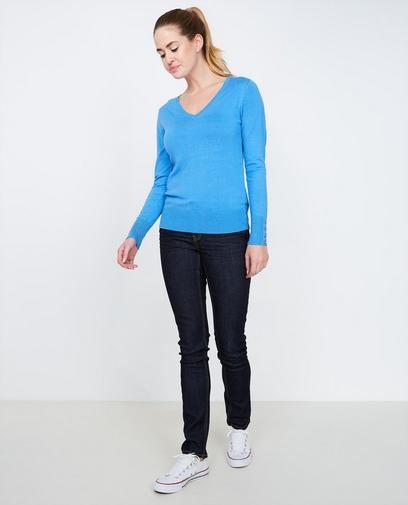 Nachtblauwe slim jeans